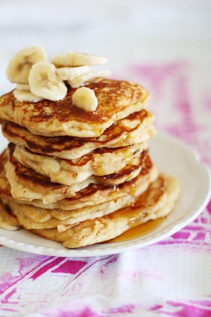 Peanut Butter Banana Pancakes  Peanut butter banana pancakes