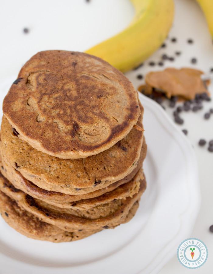 Peanut Butter Banana Pancakes  Peanut Butter Banana Chocolate Chip Oatmeal Pancakes