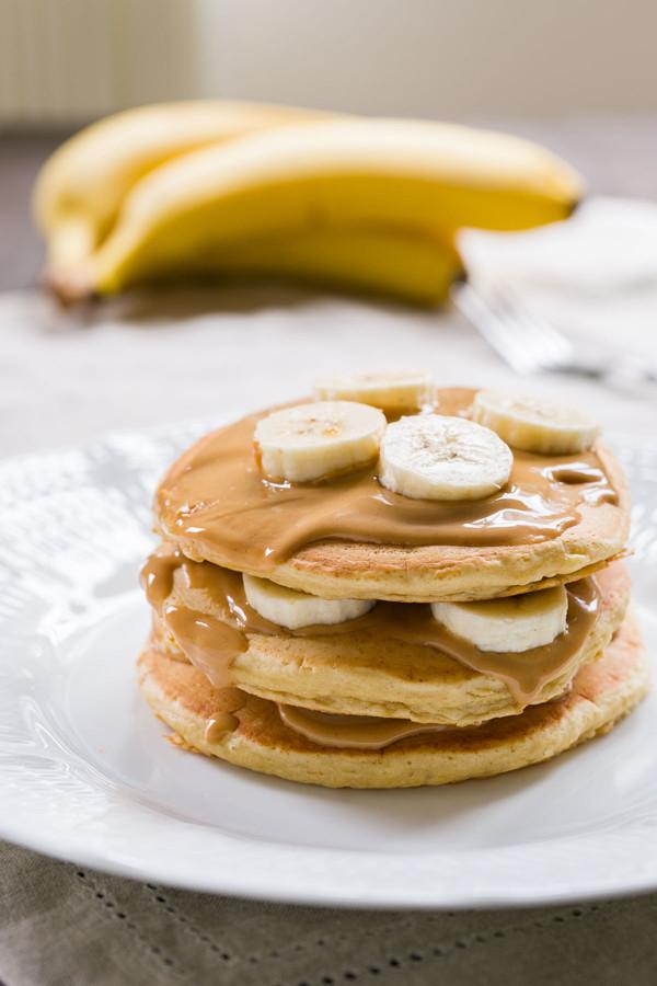 Peanut Butter Banana Pancakes  Peanut Butter Banana Pancakes Recipe