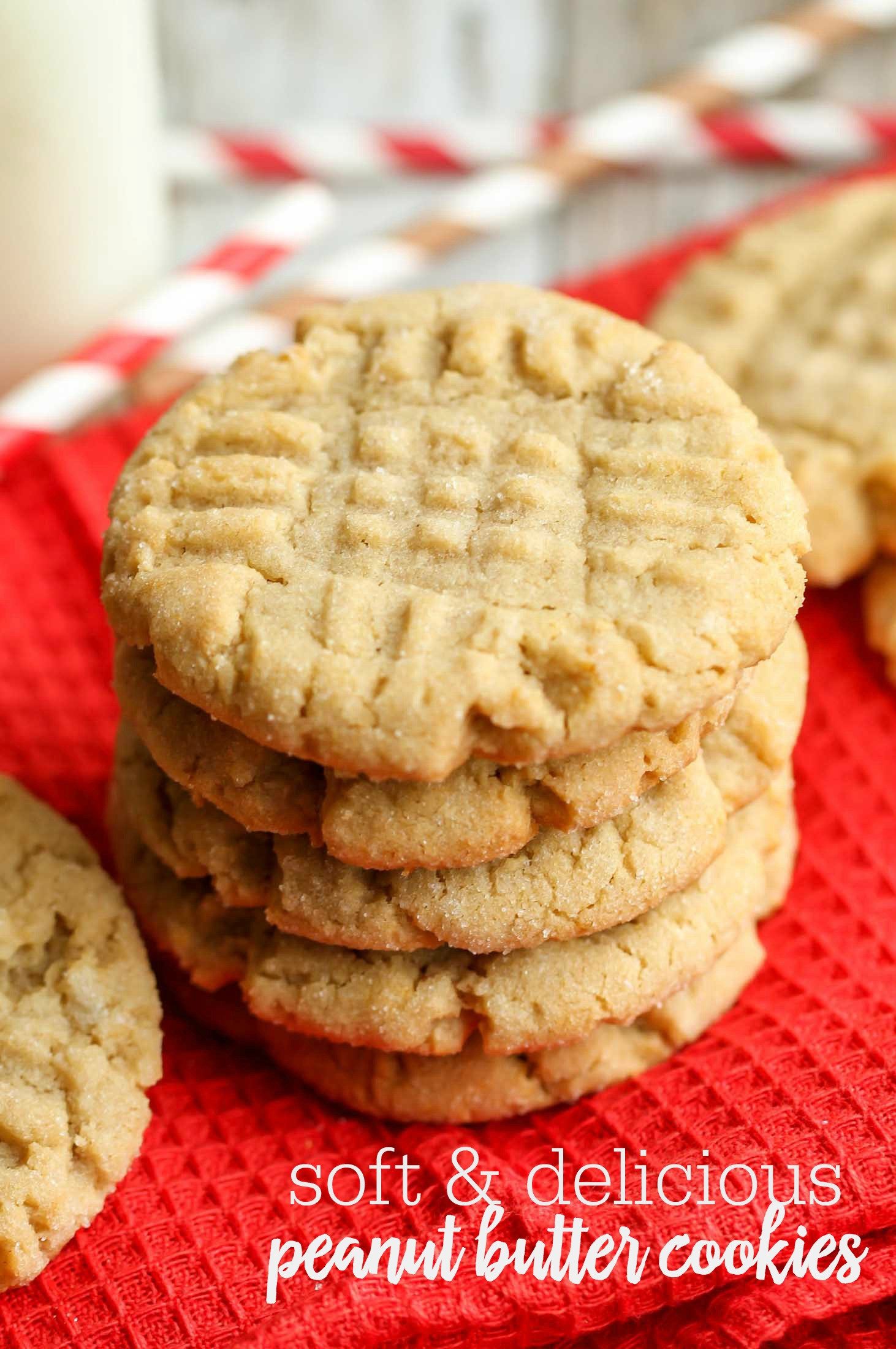 Peanut Butter Cookies Recipe Easy  EASY & SOFT Peanut Butter Cookies