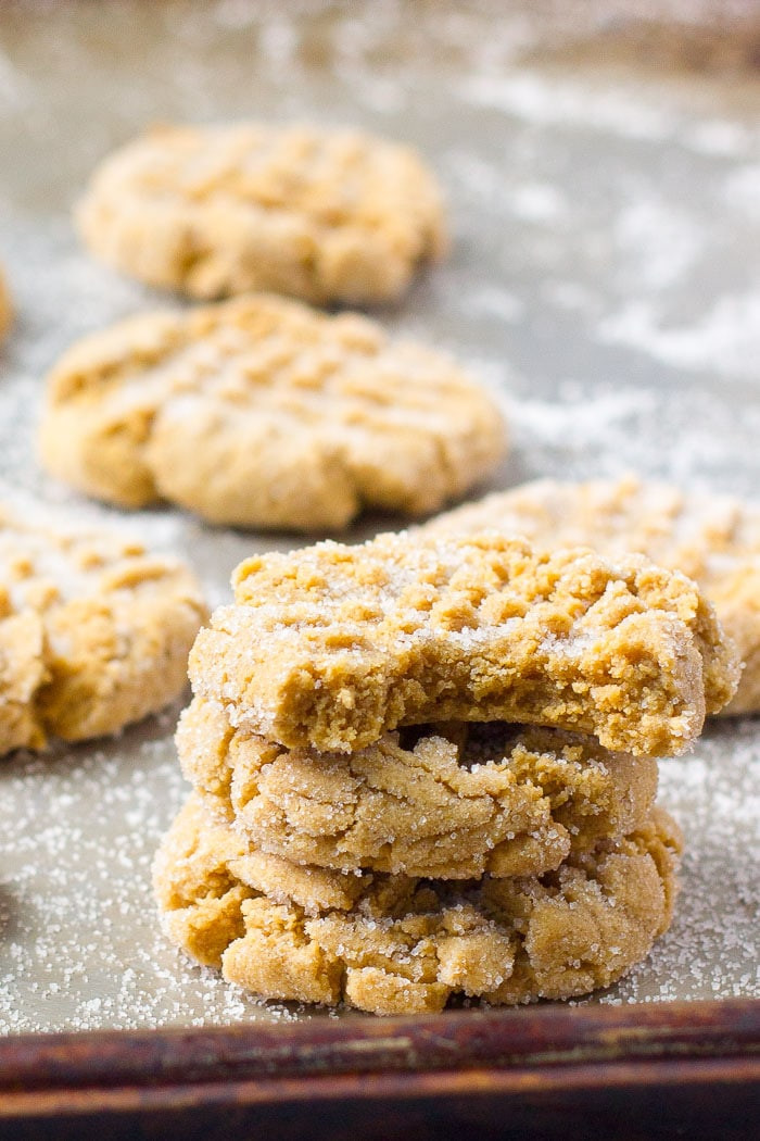 Peanut Butter Cookies Recipe Easy  Simple Soft Peanut Butter Cookies