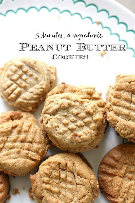 Peanut Butter Cookies Recipe Easy  Easy Peanut Butter Cookie Recipe without flour ly 4