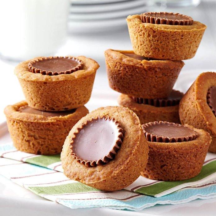 Peanut Butter Cup Cookies  Peanut Butter Cookie Cups Recipe