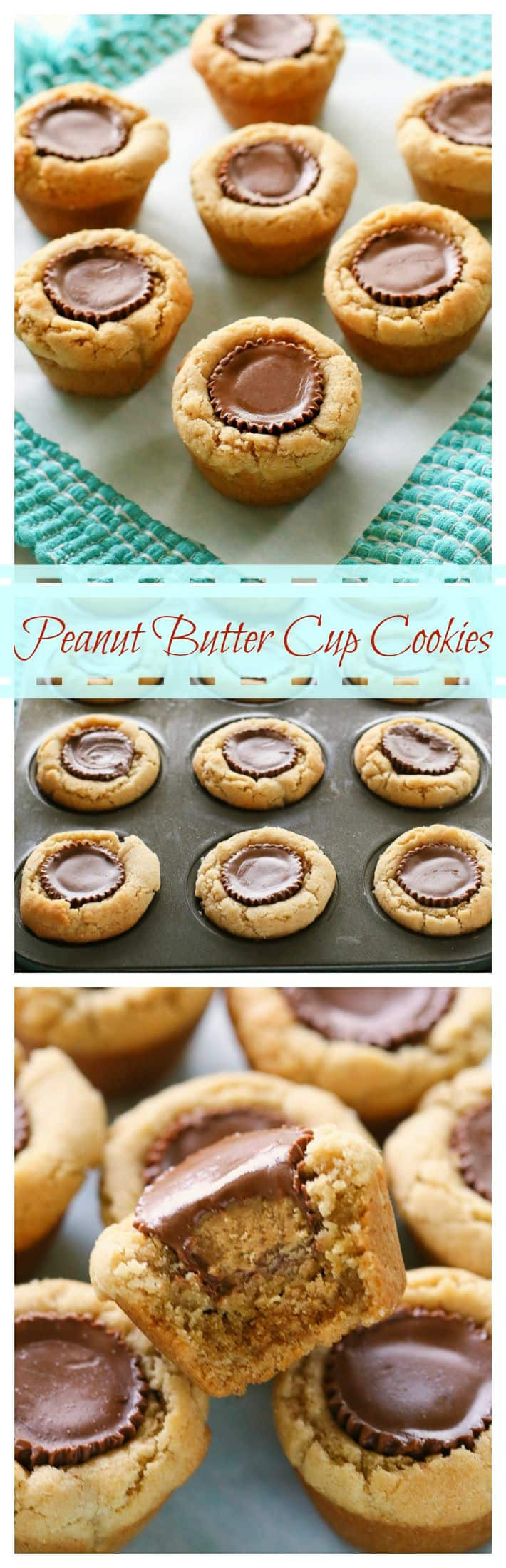 Peanut Butter Cup Cookies  Peanut Butter Cup Cookies The Girl Who Ate Everything