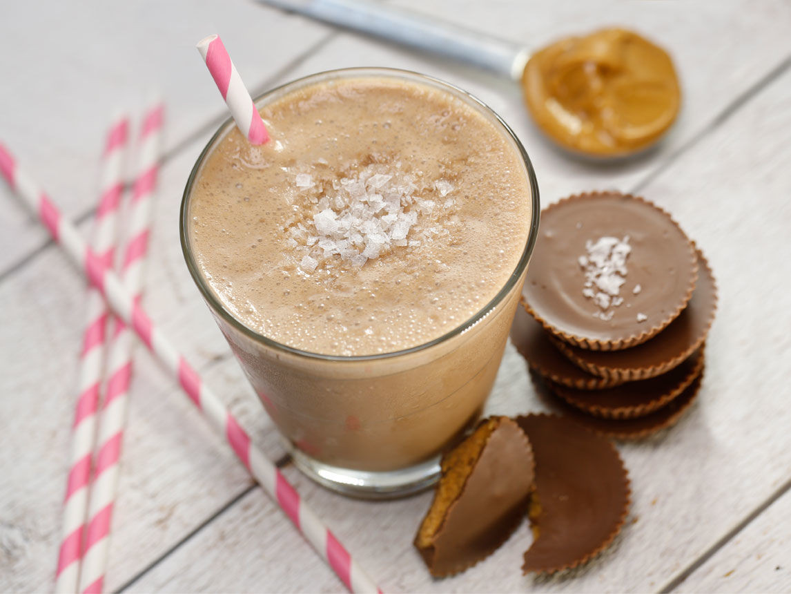 Peanut Butter Smoothies  Salted Peanut Butter Cup Smoothie