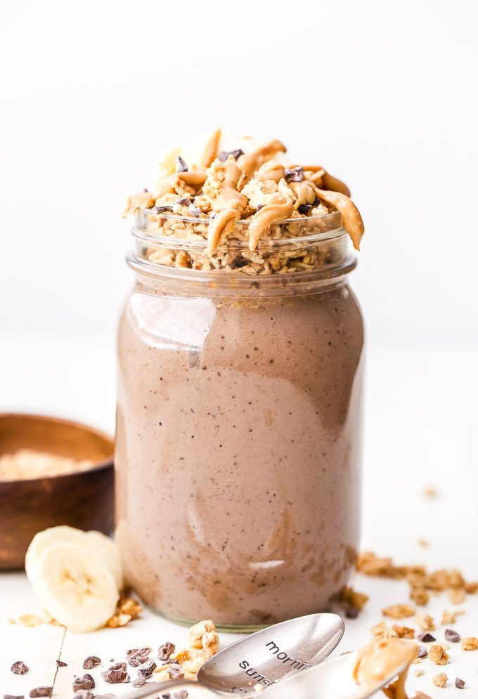 Peanut Butter Smoothies  Chocolate Peanut Butter Espresso Smoothie Parfait Recipe