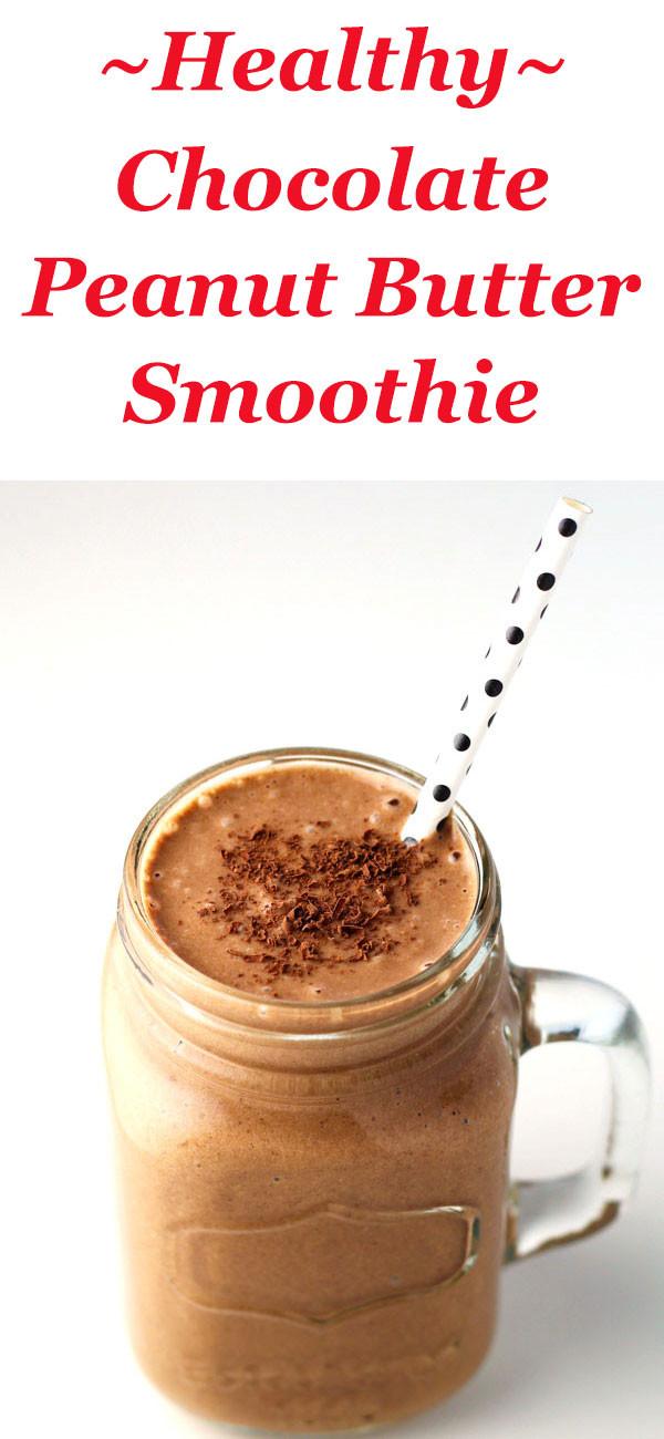 Peanut Butter Smoothies  Healthy Chocolate Peanut Butter Smoothie Tastefulventure