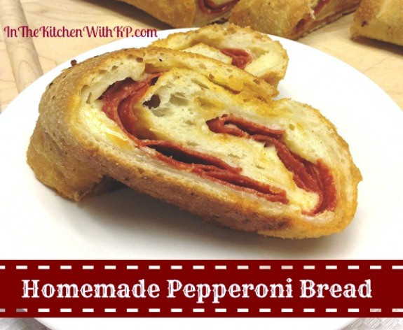 Pepperoni Bread Recipe  Pepperoni Bread for PotluckforChristy SouthernPlate In