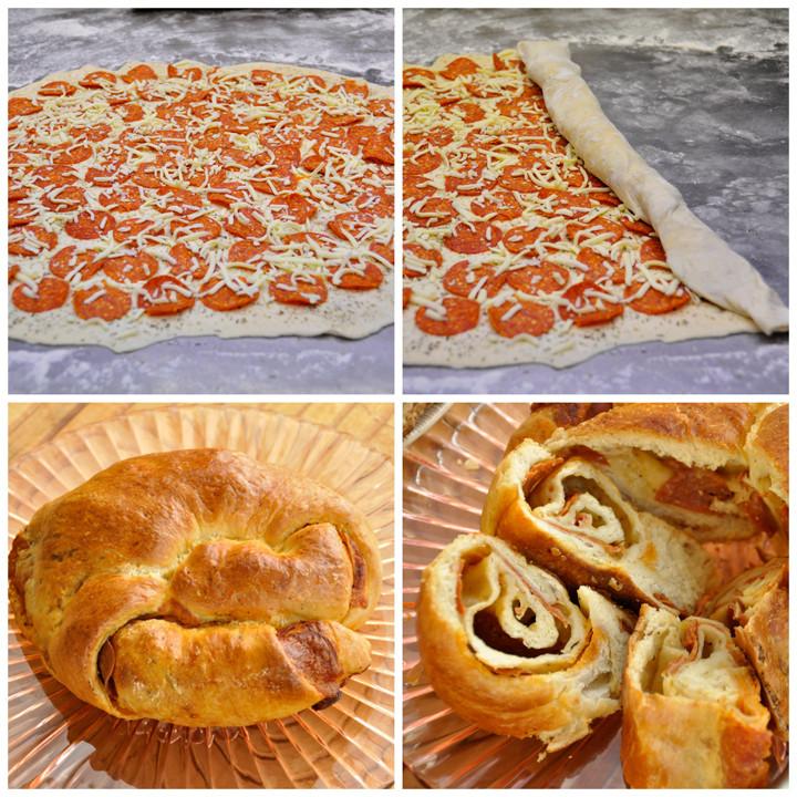 Pepperoni Bread Recipe  Pepperoni Pizza Bread
