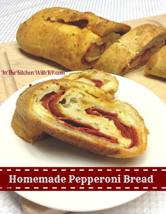 Pepperoni Bread Recipe  stuffed pepperoni bread