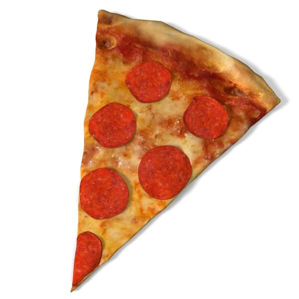 Pepperoni Pizza Slice  pepperoni pizza slice 3d model