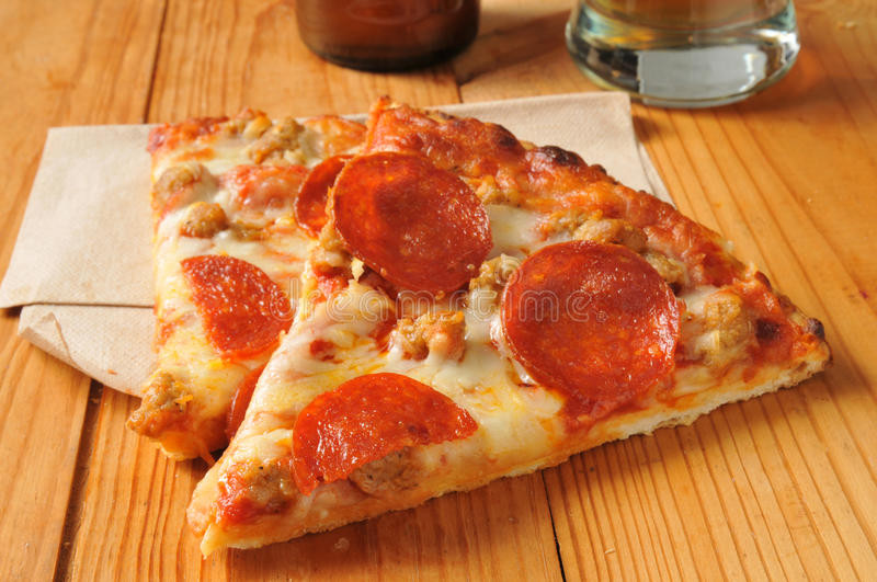Pepperoni Pizza Slice  Pepperoni And Sausage Pizza Stock s Image