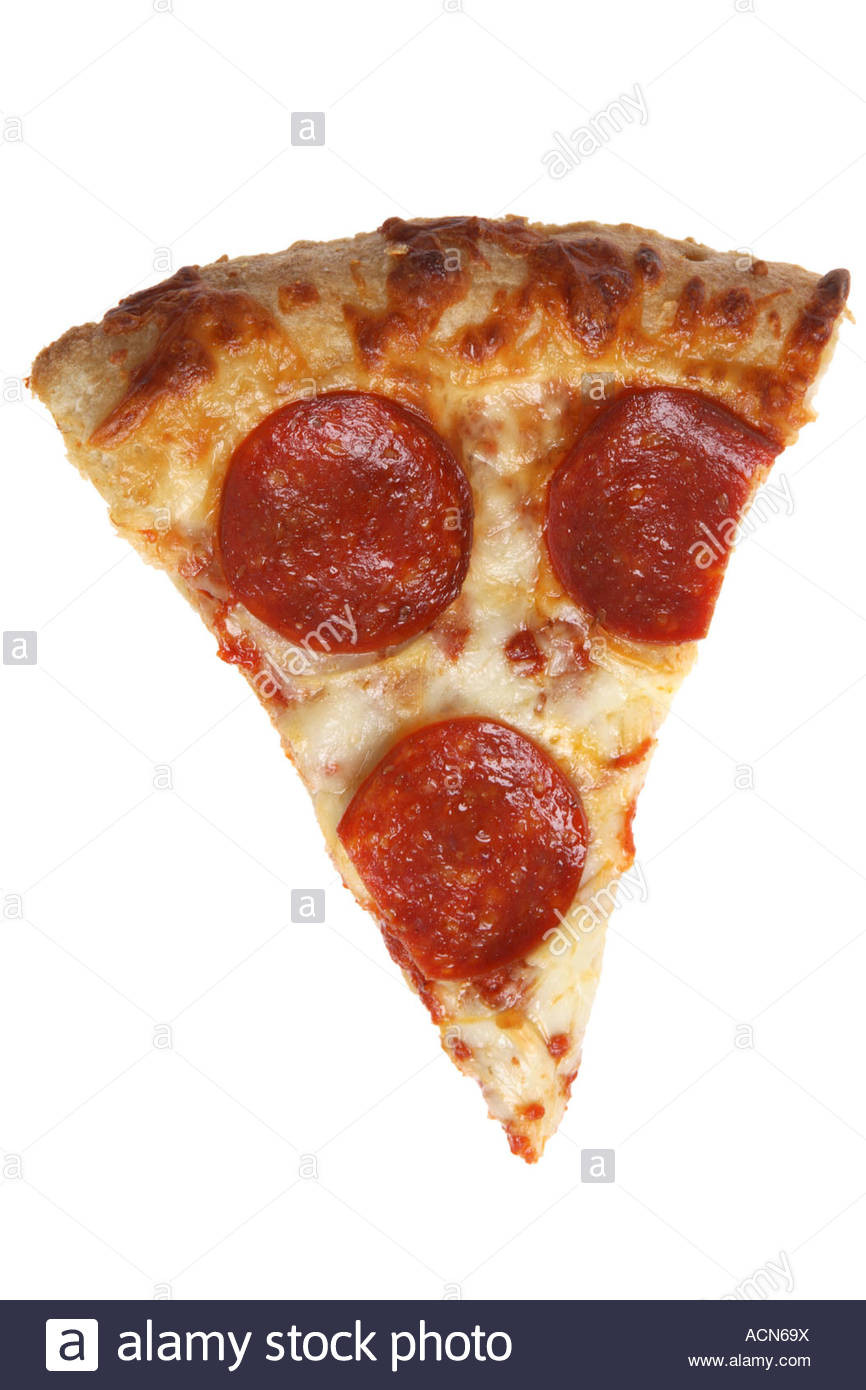Pepperoni Pizza Slice  Slice Pepperoni Pizza Cut Out White Background Stock