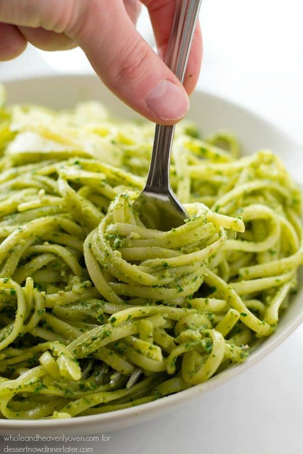 Pesto Alfredo Sauce  Creamy Pesto Alfredo Fettuccine