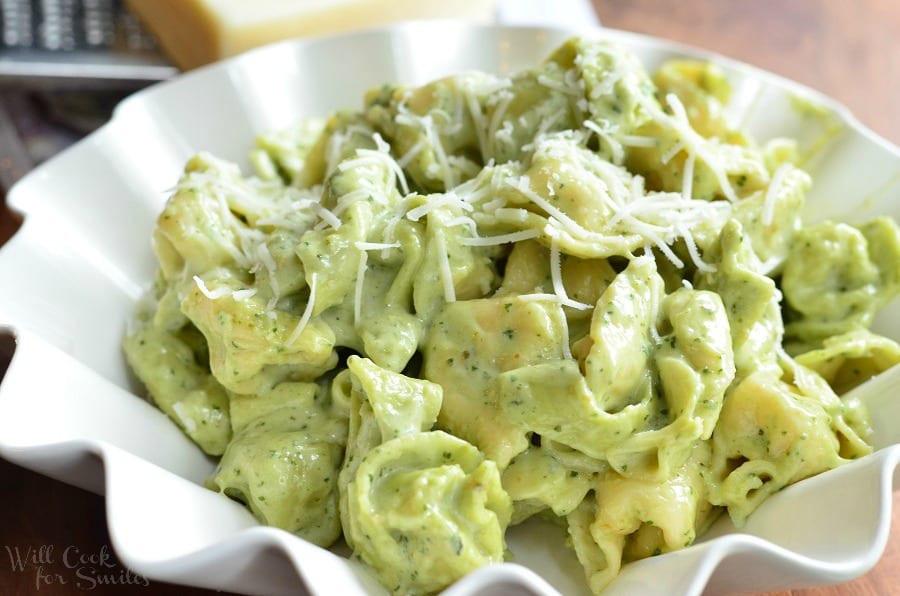 Pesto Alfredo Sauce  Pesto Alfredo Tortellini Will Cook For Smiles