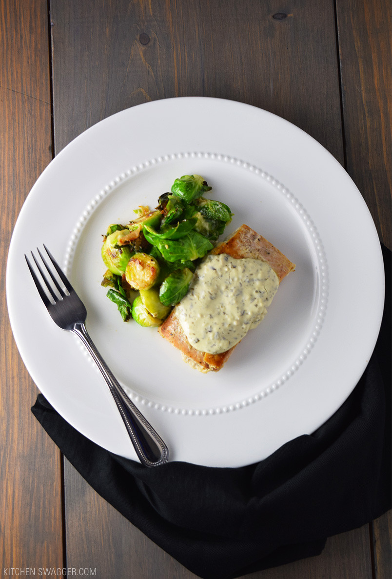 Pesto Sauce Recipe  Seared Salmon with Creamy Pesto Sauce Recipe