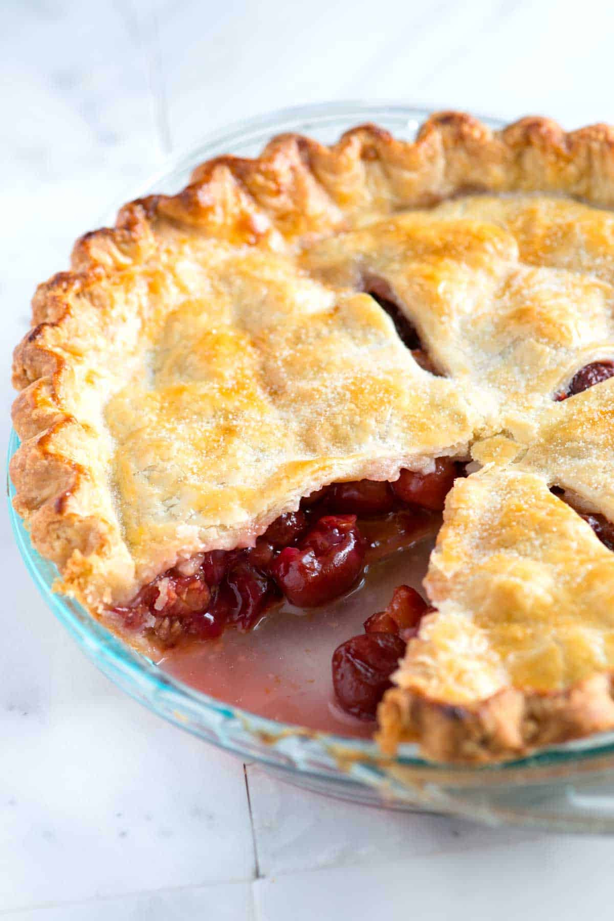 Pie Crust Recipes  Easy Homemade Cherry Pie Recipe