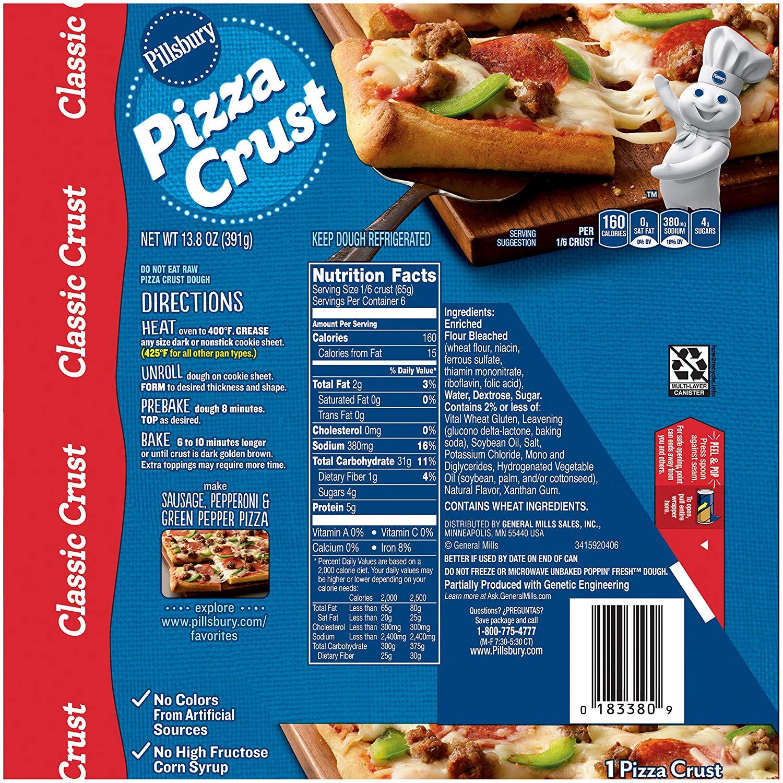 Pillsbury Pizza Dough  pillsbury pizza dough ingre nts