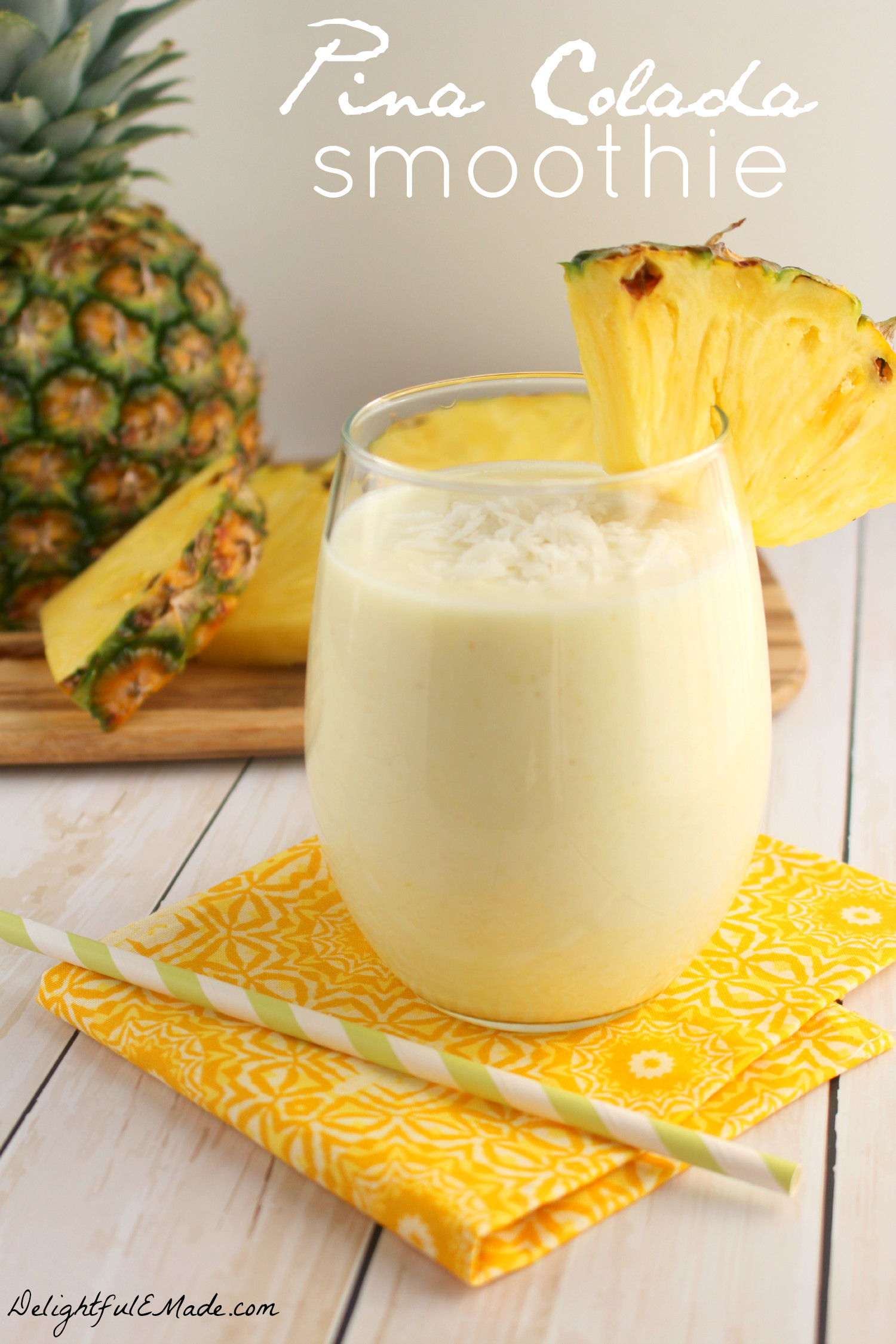 Pina Colada Smoothies Recipe  Pina Colada Smoothie Two Ways Breakfast or Cocktail