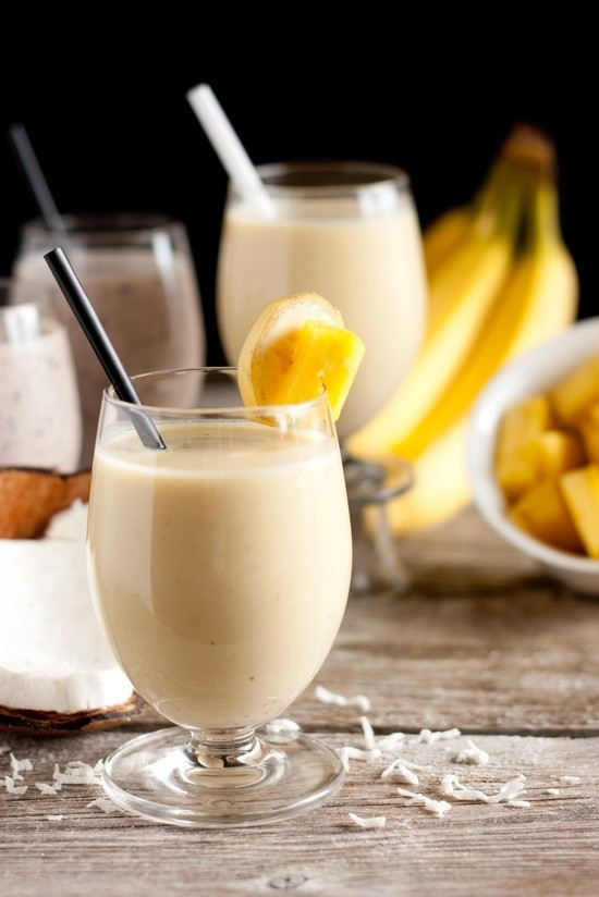 Pina Colada Smoothies Recipe  10 Deliciously Easy Smoothie Recipes Using Greek Yogurt …