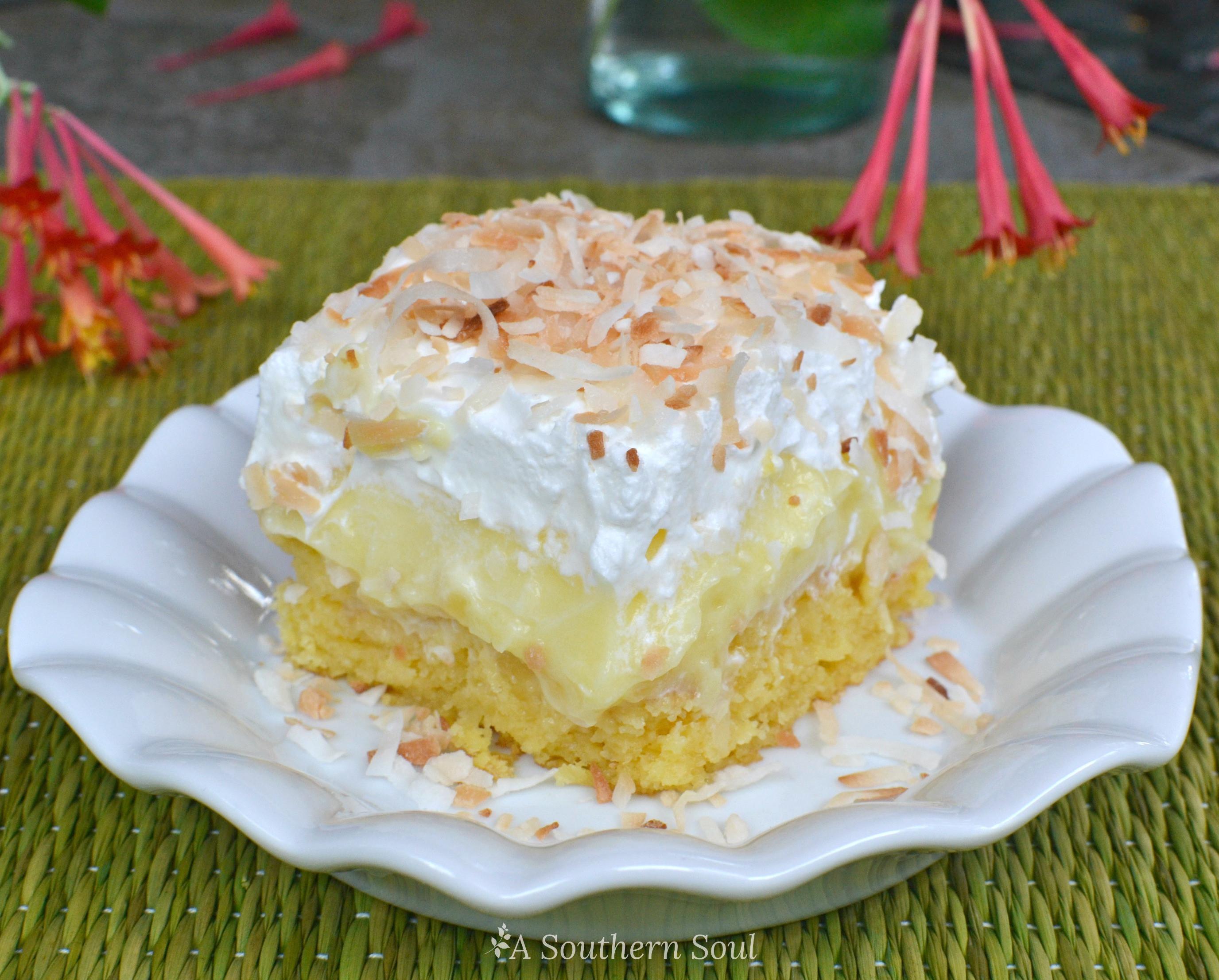 Pineapple Cake Recipe  hawaiian poke cake