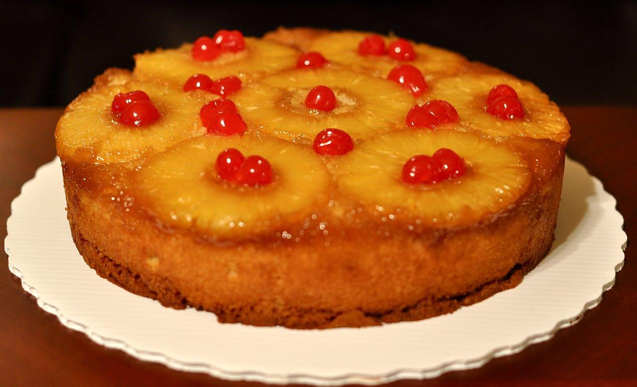 Pineapple Cake Recipe  File Pineapple upside down cake