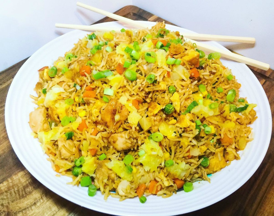 Pineapple Chicken Fried Rice  Healthy Chicken and Pineapple Fried Rice Recipe