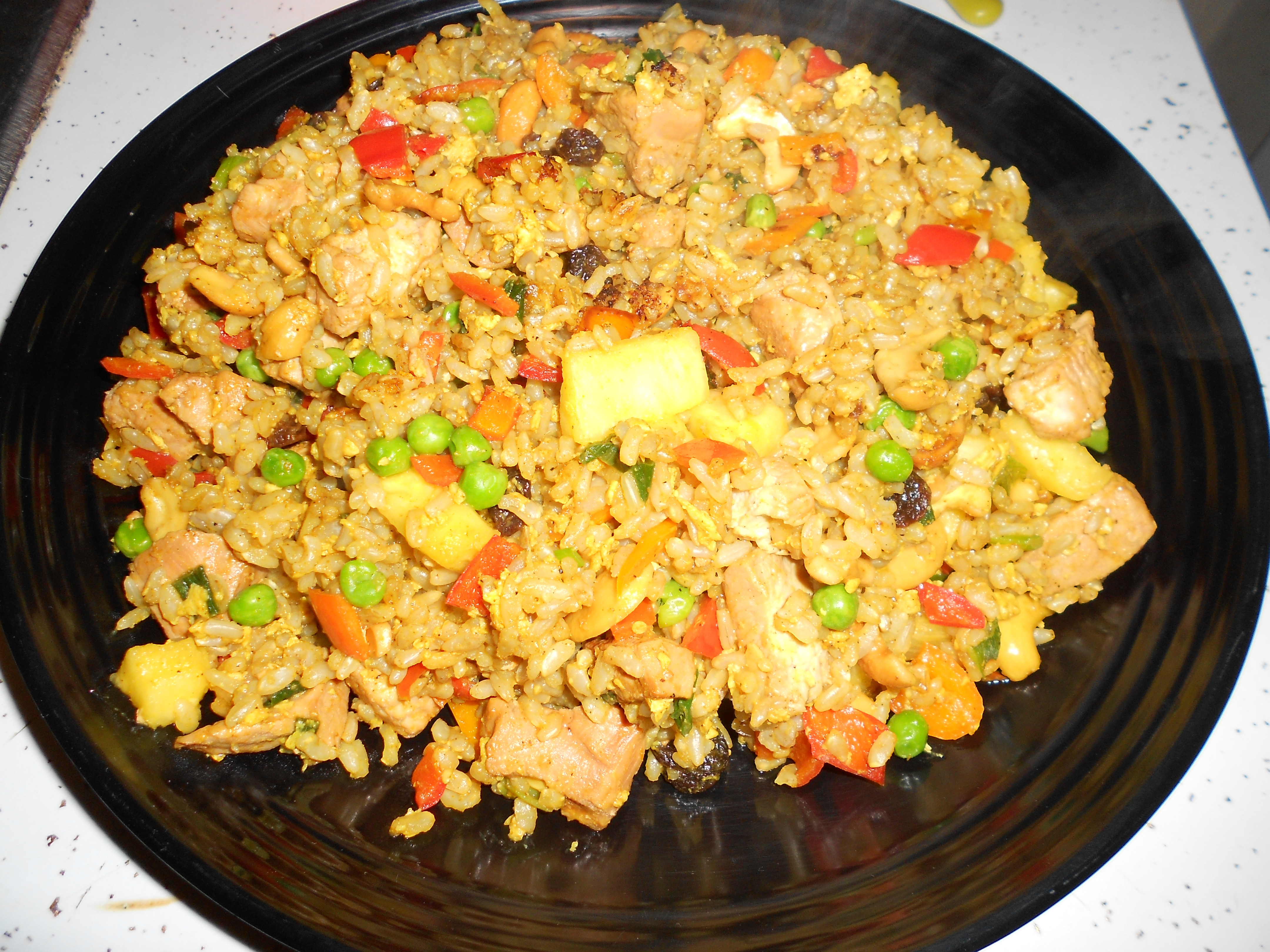 Pineapple Chicken Fried Rice  Thai Curry Chicken Pineapple Fried Rice