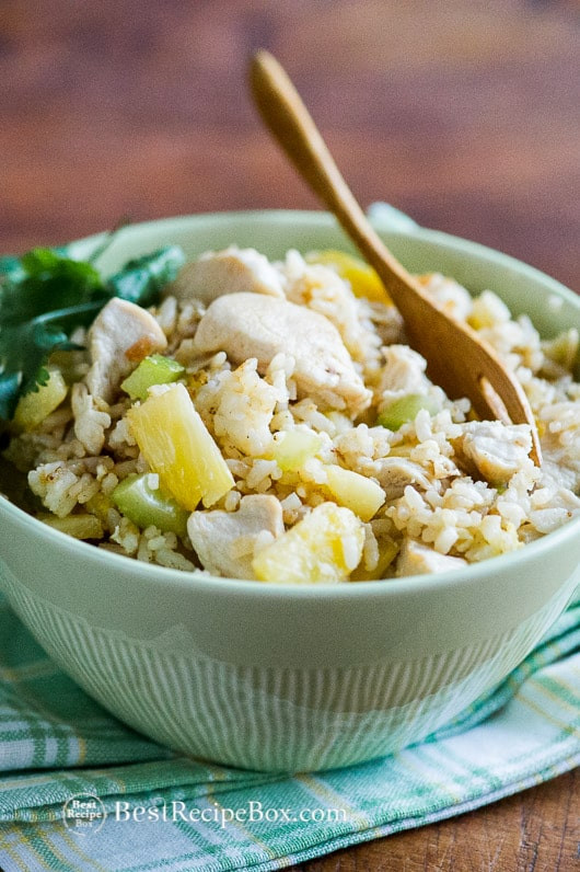 Pineapple Chicken Fried Rice  Chicken Fried Rice Recipe with Pineapple