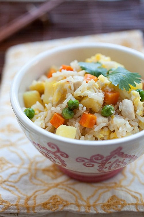 Pineapple Chicken Fried Rice  Chicken and Pineapple Fried Rice