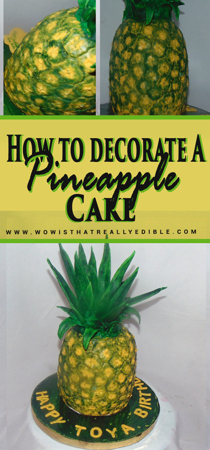 Pineapple Shaped Cake  How to Decorate a Pineapple Cake Wow Is that really edible
