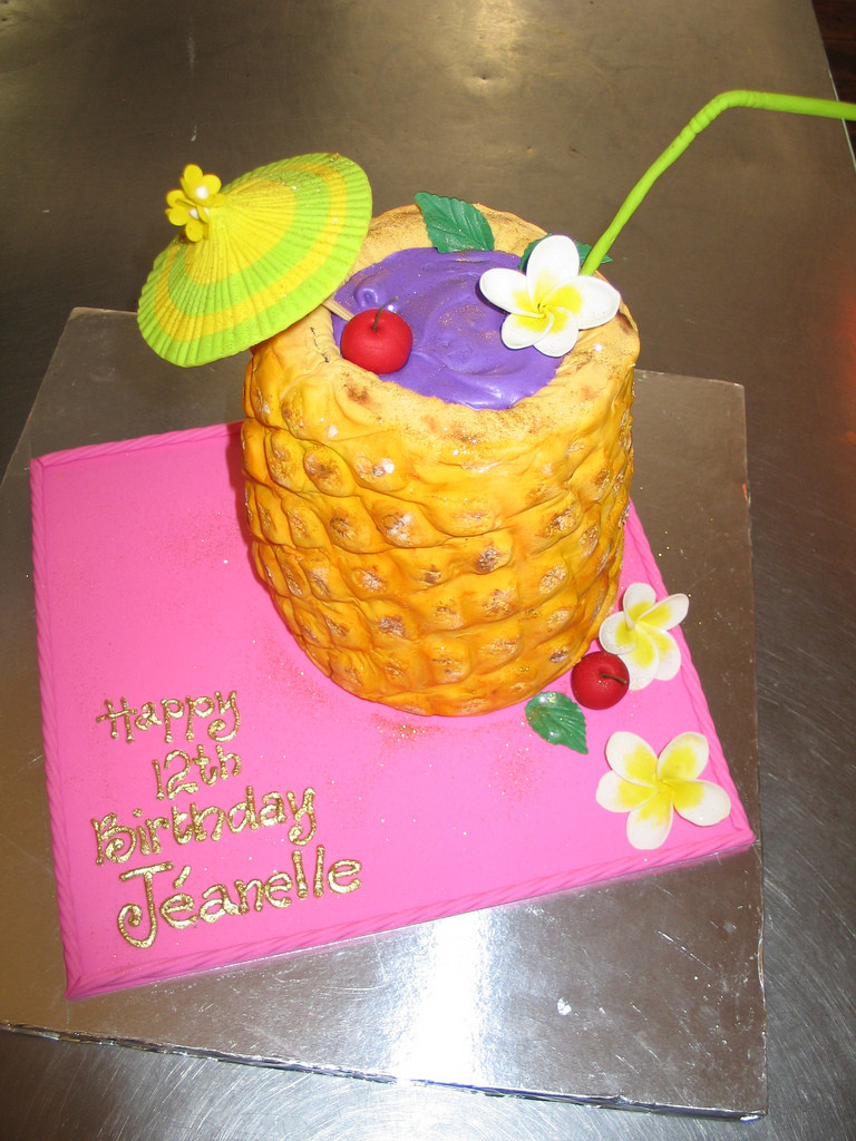 Pineapple Shaped Cake  Pineapple Cocktail shaped Wicked Chocolate cake