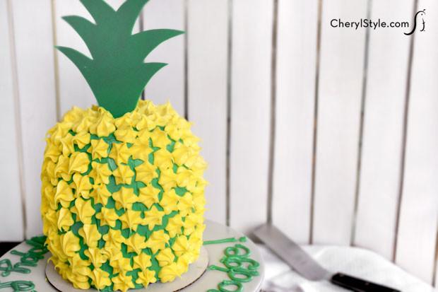 Pineapple Shaped Cake  Pineapple shaped cake CheryStyle