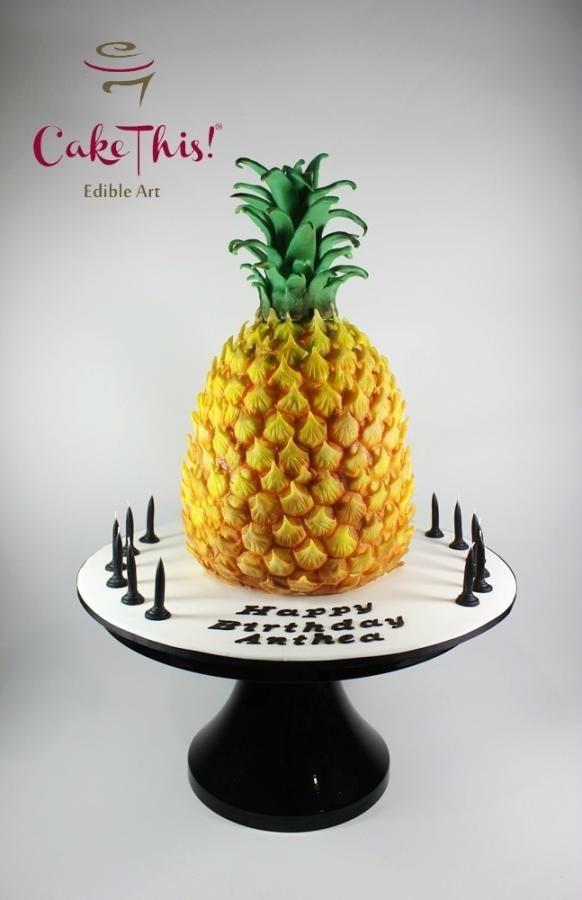 Pineapple Shaped Cake  Pineapple Birthday Cake