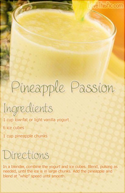 Pineapple Smoothie Recipes  Smoothie Quotes QuotesGram