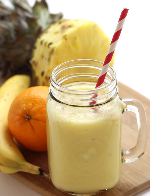 Pineapple Smoothie Recipes  Pineapple Smoothie Recipe With Yogurt Banana and Orange