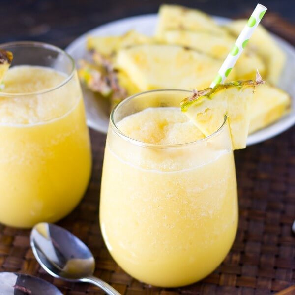Pineapple Smoothie Recipes  Pineapple Cream Tropical Smoothie Tastes of Lizzy T s