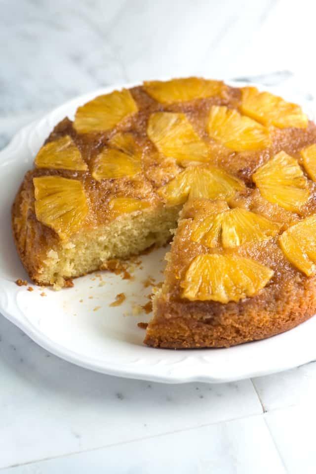Pineapple Upside Down Cake Recipes  lemon pineapple upside down cake