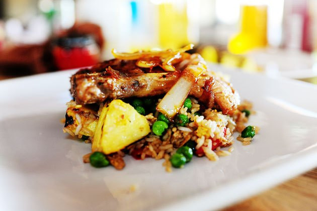 Pioneer Woman Pork Chops  Pork Chops with Pineapple Fried Rice