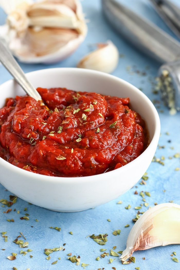 Pizza Sauce From Tomato Paste  simple pizza sauce with tomato paste