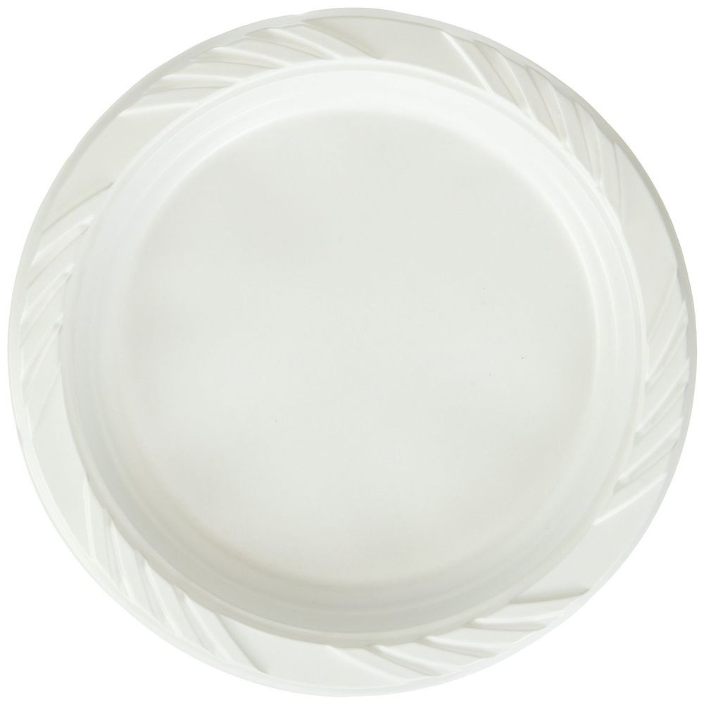 Plastic Dinner Plates  New 100 Count Disposable Party Plastic Plates White Dinner