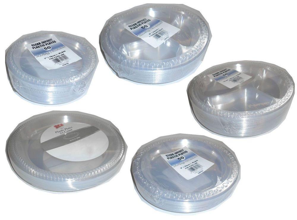 Plastic Dinner Plates  Clear Disposable Plastic Dinner plates