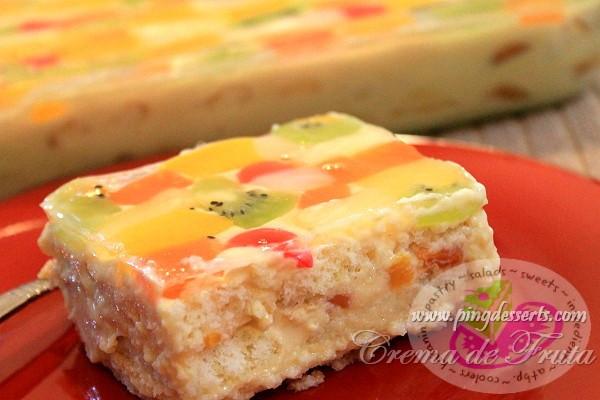 Popular Filipino Desserts  Crema de Fruta Recipe – Filipino Dessert Recipes by