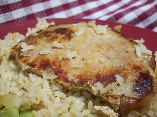 Pork Chop And Rice Casserole  Its Too Easy Pork Chops And Rice Casserole Recipe Food