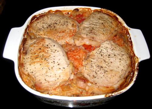 Pork Chop And Rice Casserole  pork chop and rice casserole