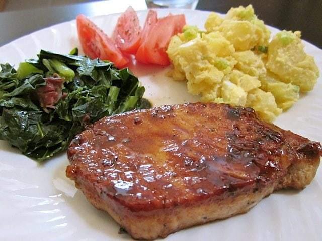 Pork Chop Dinner  Glazed Pork Chops Bud Bytes