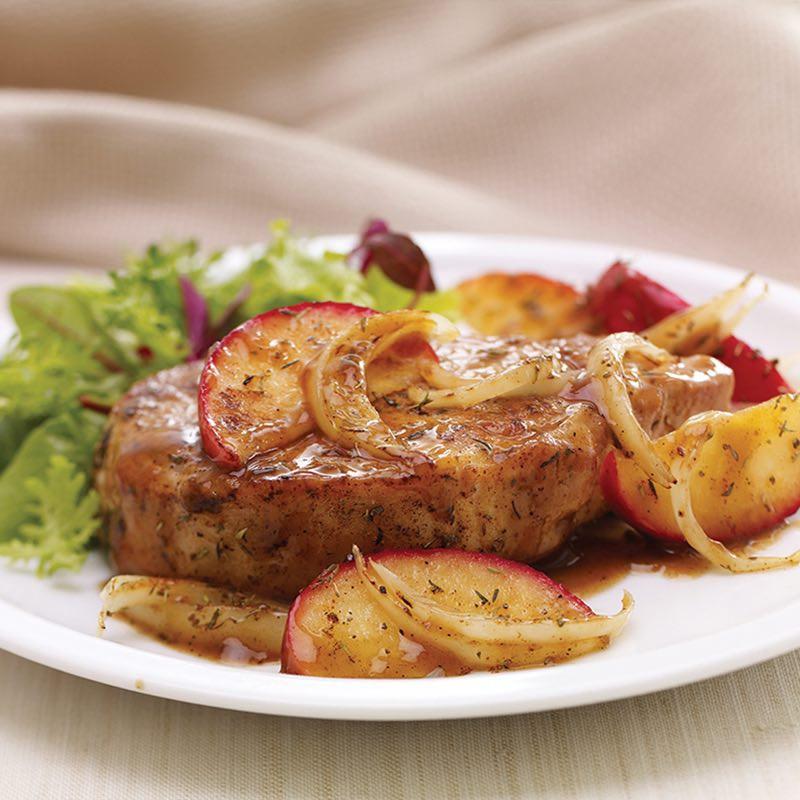 Pork Chops And Apples  apple sage pork chops