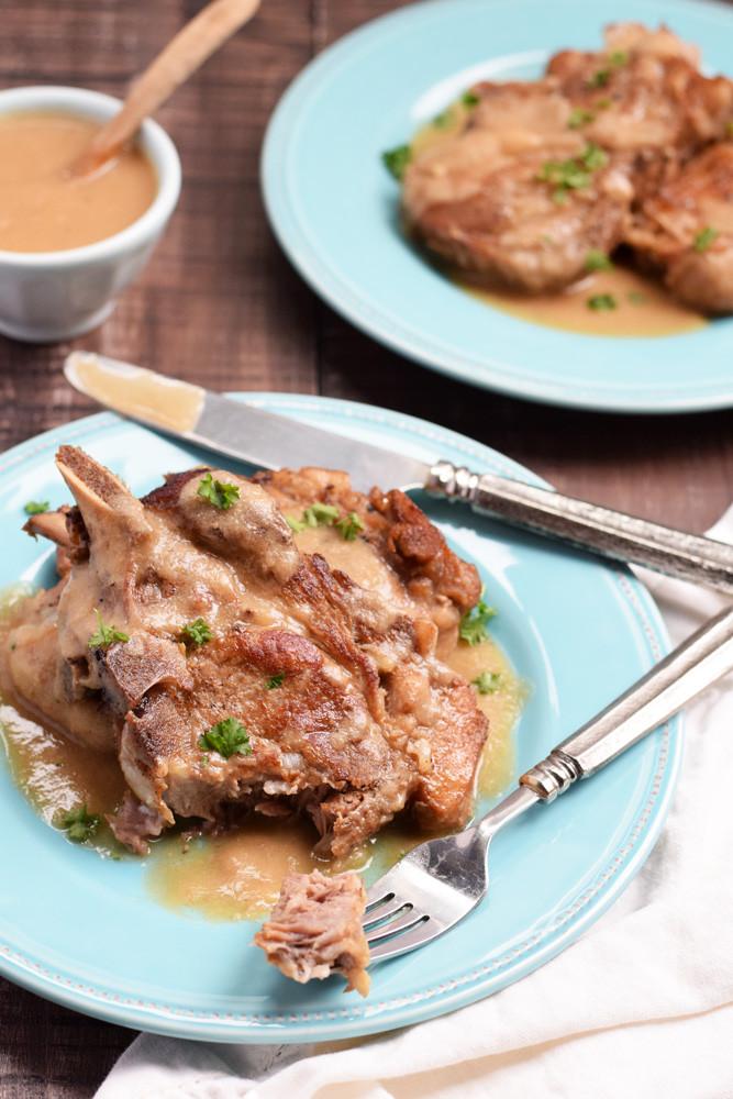 Pork Chops Instant Pot  Instant Pot Pork Chops & Gravy Living Loving Paleo