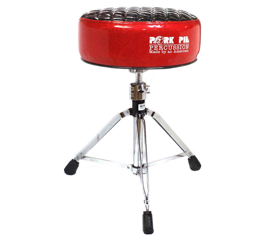 Pork Pie Drum Throne  Pork Pie Deuce Black and Red Darth Drum Throne – Drum Shop