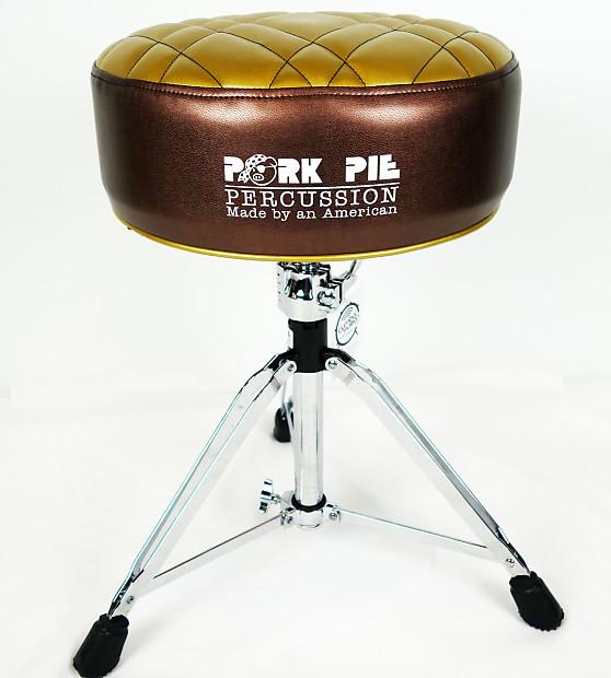 Pork Pie Drum Throne  Pork Pie Duece Drum Throne Metallic Brown Gold Half Tuck